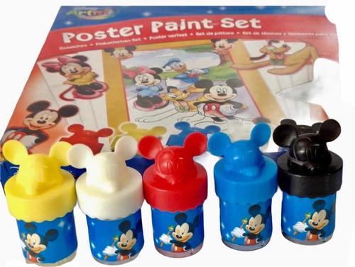 Set De Láminas Y Temperas Para Colorear De Disney Artist