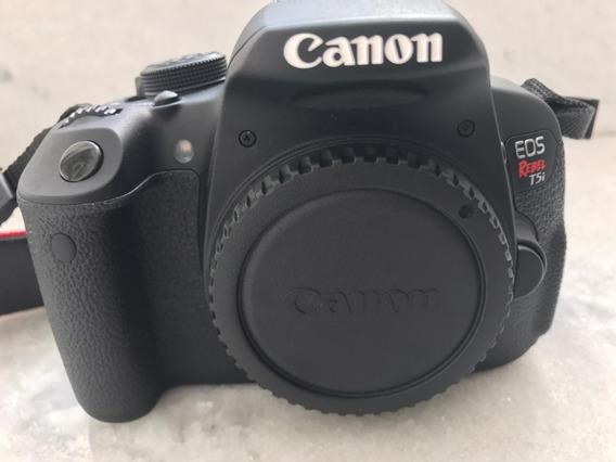 Câmera Digital Canon Eos Rebel T5i 647 Clicks Único Dono