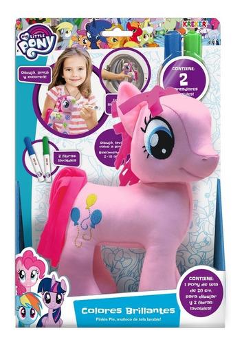 Imagen 1 de 1 de My Little Pony Muñeco 20cm P Pintar Lavable Rainbow D Kreker