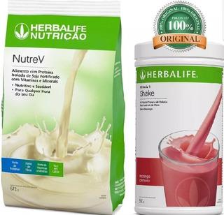 Shake Pote550g+nutrev672g Escolher Sabor Perguntas Herbalife