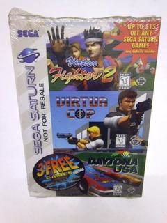 Sega Saturn X3 Virtua Fighters 2 + Virtua Cop + Daiton Usa