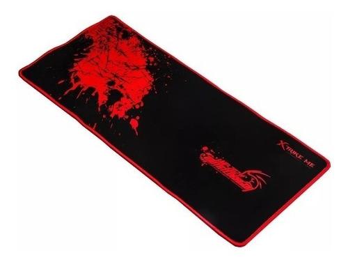 Imagen 1 de 7 de Mousepad Gamer Xtrike Me Rojo/negro Grande Mp-202 Cpu