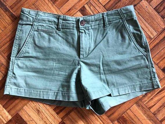 Short Pantalón Gap Gabardina Nuevo Talle 26/ 36 Color Verde