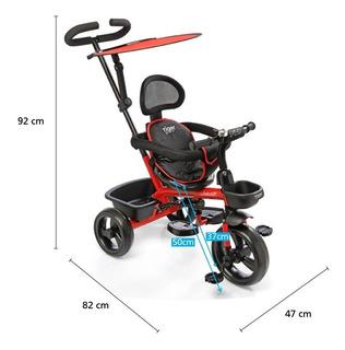 Triciclo Infantil Felcraft Manija Direccional Doble Canasto