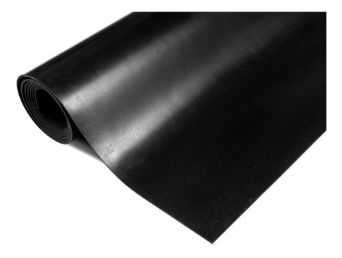 Piso De Goma Gimnasio 2,5mm Caucho Negro Liso Rollo