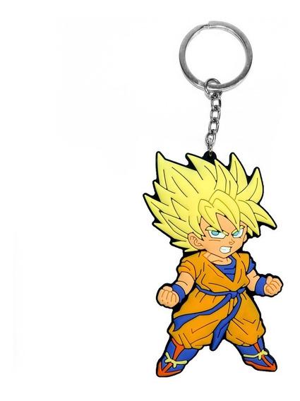 Chaveiro Goku Dragon Ball Z Cabelo Amarelo