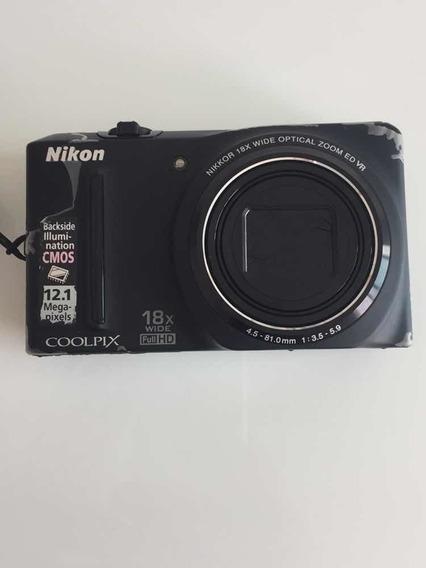 Câmera Nikon Coolpix S9100 Wide Full Hd