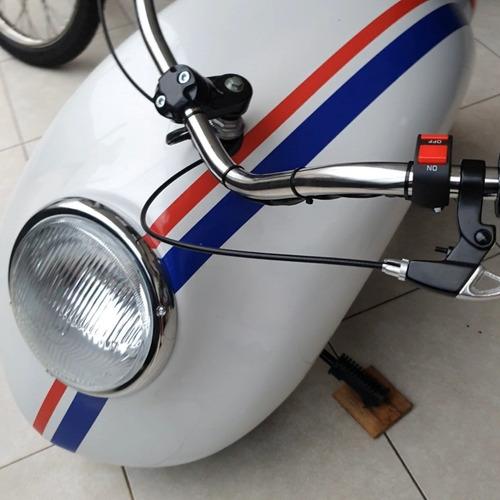 Mini Moto Fusca 210 Cilindradas Com Partida Elétrica.