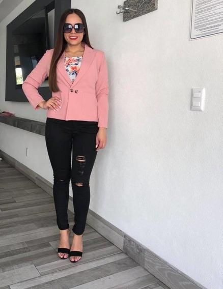 Saco/blazer Cklass 007-72 Rosa Outlet /saldos Mchn