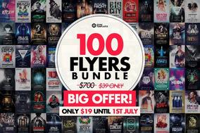Pacote 100 Flyers - Festa - Shows - Dj