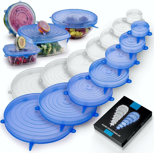 Tapas De Silicona Multiusos - Alimentos Recipientes Set 6 Pc