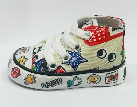 Bota De Lona Estampada (roller Pow 52)