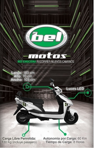 Imagen 1 de 6 de Moto Electrica Bel Hd1000-zsn