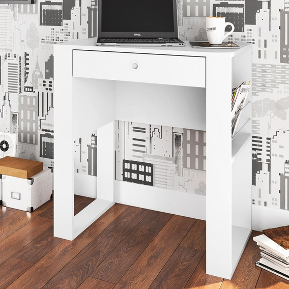 Escrivaninha Art In Lisboa Com Porta Revistas - Branco