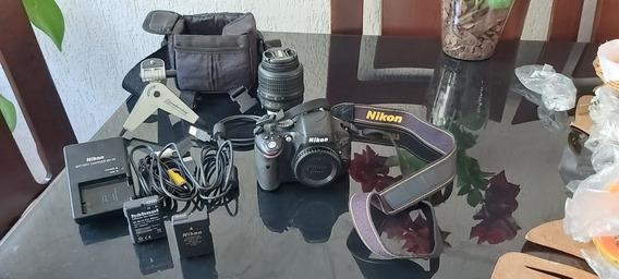 Câmera Fotográfica Profissional Nikon D5100, Com Acessórios.