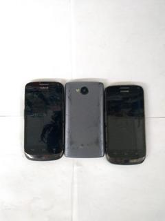 Lote A 3 Celulares LG E Huawei No Estado