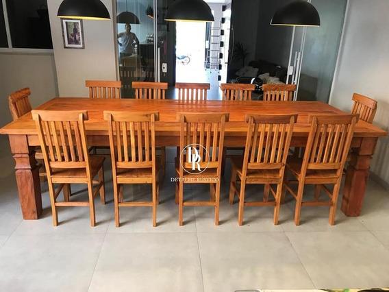 Mesa De Jantar 3 Mts C/ 12 Cadeiras Promoção
