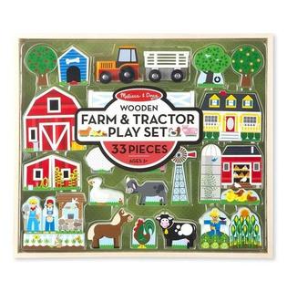 Granja Y Tractor Madera 33 Pzas Melissa & Doug Didáctico