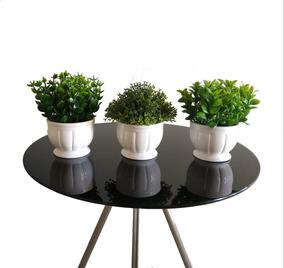 Planta Artificial Kit 3 Vasinhos