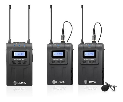 Boya Microfone S/ Fio Lapela By-wm8 Pro K-2 (lançamento)