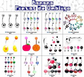 c365bd1334fe Piercing Aretes Para El Ombligo Varios Modelos - Aretes en Mercado ...