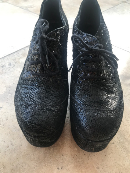 Zapatos Mishka Con Lentejuelas - Talle 38 - Muy Poco Uso
