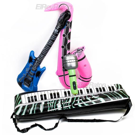 Kit De Instrumentos Inflables Fiestas Eventos Batucada M60