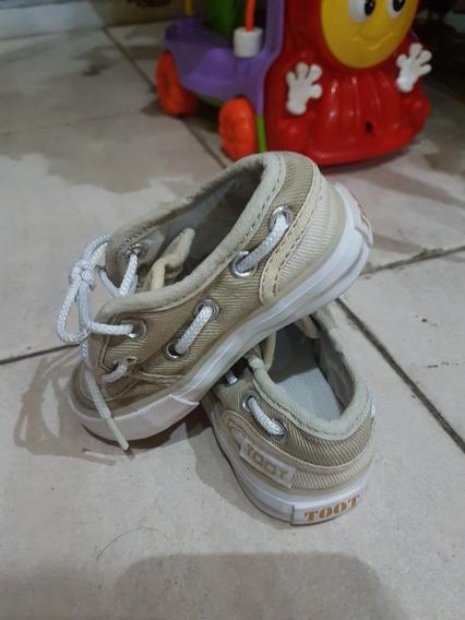Zapatos Nauticos Toot Bebe Gabardina Beige 18 No adidas
