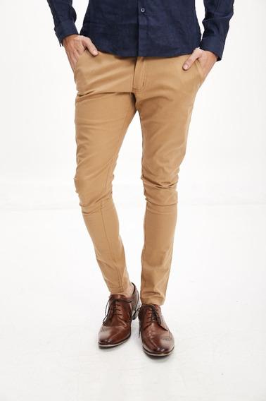 Pantalon Hombre Chupin Gabardina Elastizado