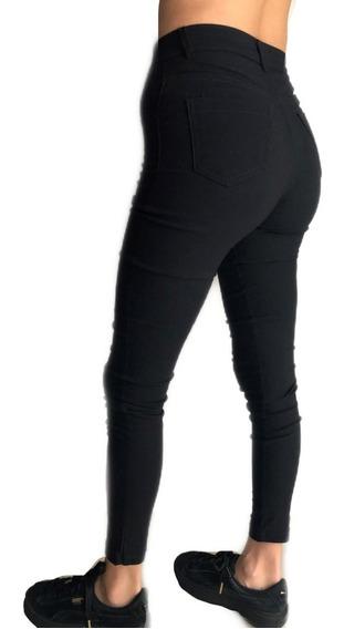 Pantalon Chupin De Bengalina Tiro Alto
