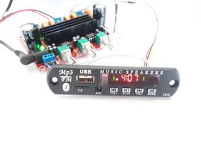 Placa Montada Amplificador Rms 50w+50w+100w Bluetooth Mp3