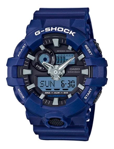 Relogio Casio G-shock Ga-700-2adr Azul Original Lata Ga700