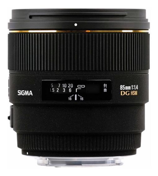 Lente Sigma 85mm 1.4f Nikon Ex Dg Hsm Nova Na Caixa