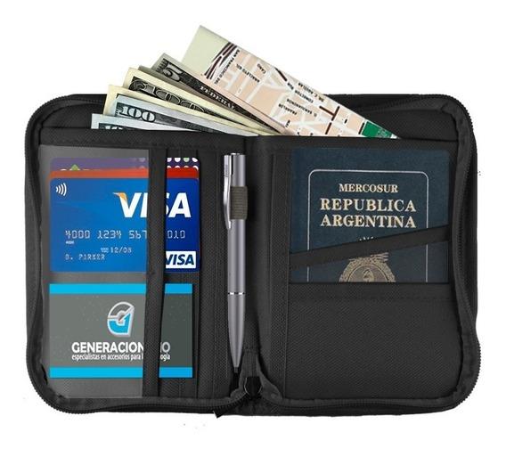 Organizador De Viaje Pasaportes Documentos Tarjetas X2 Unid.