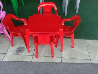 Mesa E Cadeiras Infantil Coloridas Poltrona Kit C/ 35 Jogos