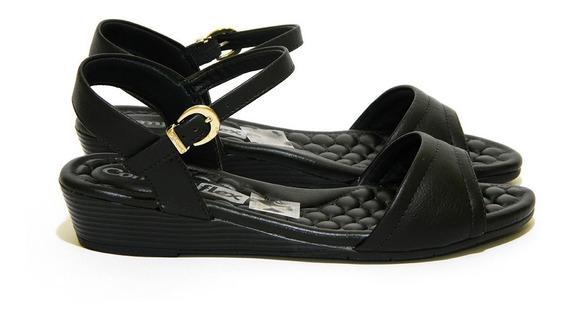 Sandália Comfortflex 1574404 Preto Islen Calçados