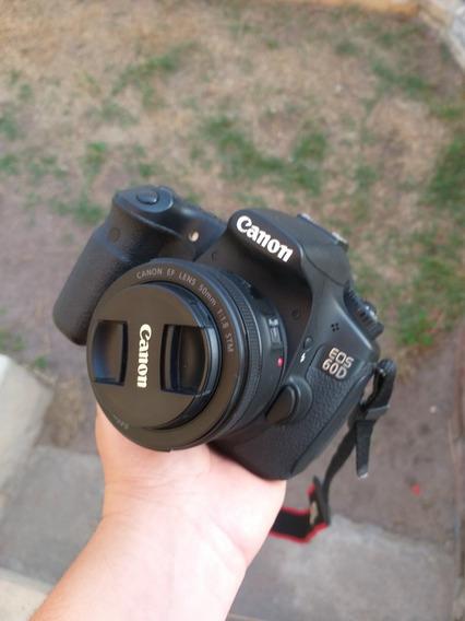 Câmera Canon 60d 15k + Lente 50mm + Flash + Rádio