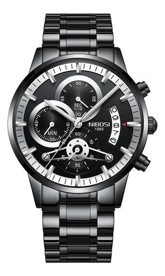 Relógio Nibosi Masculino Luxo Cronógrafo Original
