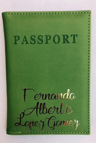 Portapasaporte Personalizado Porta Pasaporte Portapasaportes