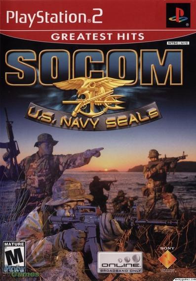 Jogo Socom Us Navy Seals Playstation 2 Original Lacrado Ps2