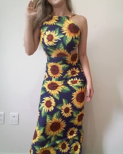 824aef820e Vestido Longo Estampado Barato - Vestidos Femininos Casuais Longos ...