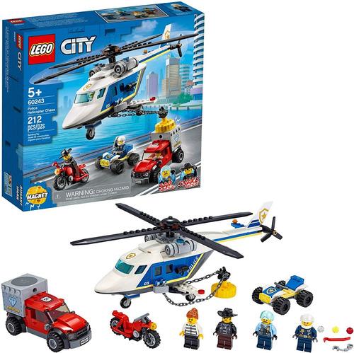 Lego City 60243 Helicóptero Policía 212 Piezas Original