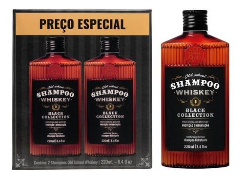 Imagem 1 de 3 de Kit Shampoo Whiskey   2 Unidades Old School Whiskey   Qbs