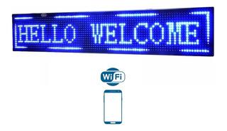 Cartel Led Programable Wifi Android Ios Dinamico Azul 1m App
