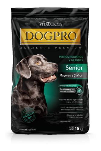 Imagen 1 de 6 de Alimento Balanceado Premium Dogpro Senior 15 Kg