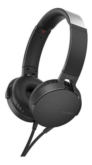 Fone de ouvido Sony MDR-XB550AP preto