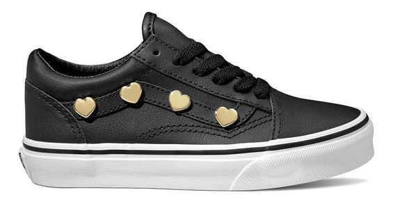 Zapatillas Niña Vans Old Skool (heart Studs) - Wetting Day -