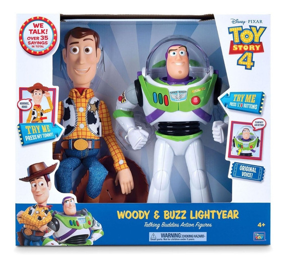 Woody Y Buzz Toy Story 4 Figuras Parlantes 35 Frases 64128