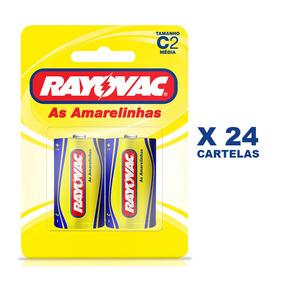 Pilha Zinco Rayovac C 24 Cartelas Com 2und
