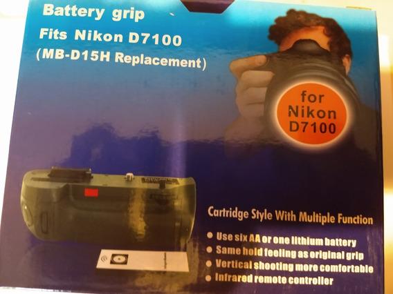 Battery Grip Para D7100 D7200 Mb-d15h Com Bateria En-el15a